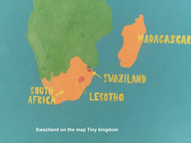 Swaziland on the Map Tiny Kingdom